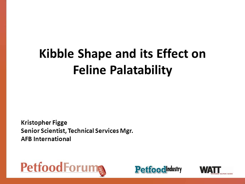 Kibble Shape and its Effect on Feline Palatability