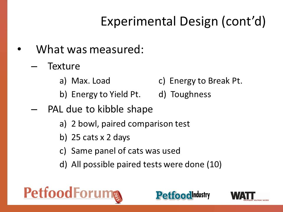 Experimental Design (cont'd)