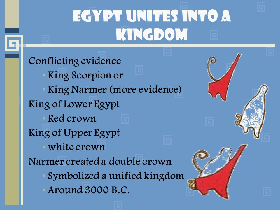 Egypt Unites into a Kingdom
