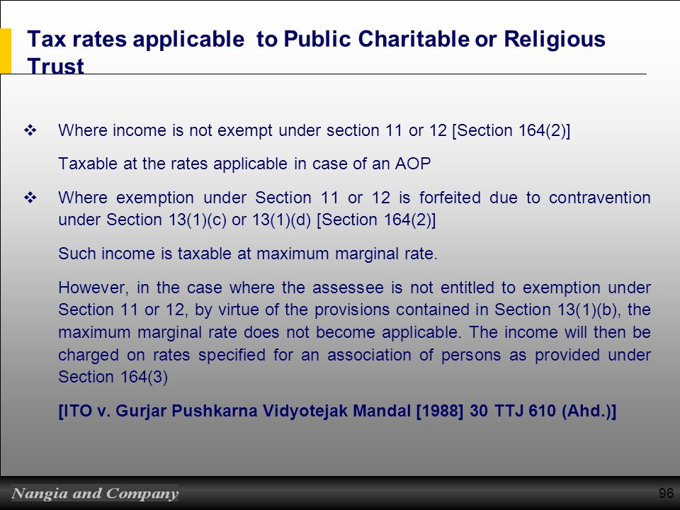taxation of private beneficiary and charitable trust - ppt download