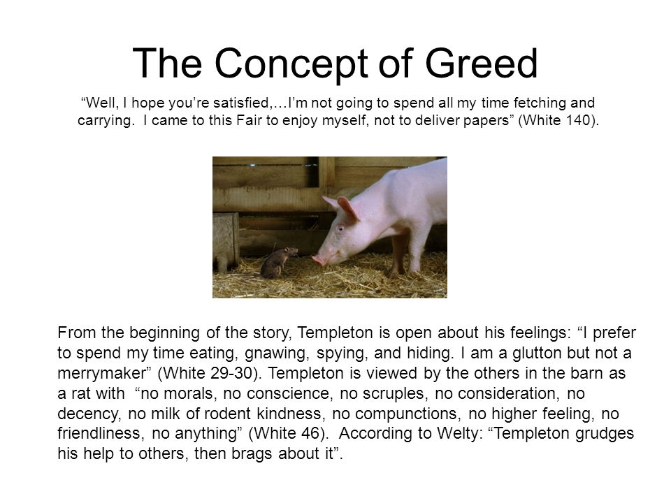 The Concept of Greed