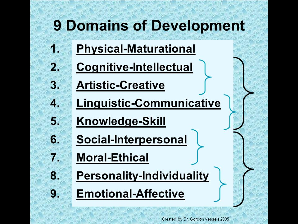 9 Domains of Development