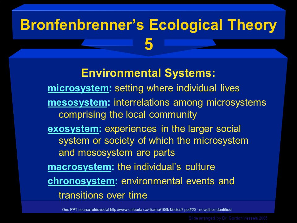 Bronfenbrenner's Ecological Theory