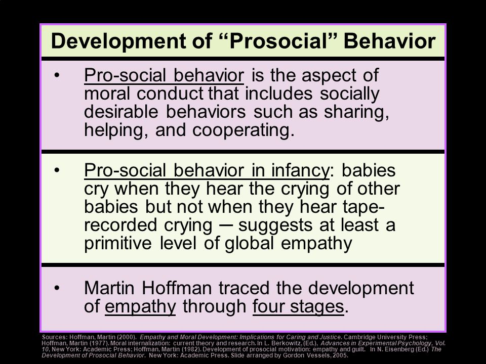 Development of Prosocial Behavior