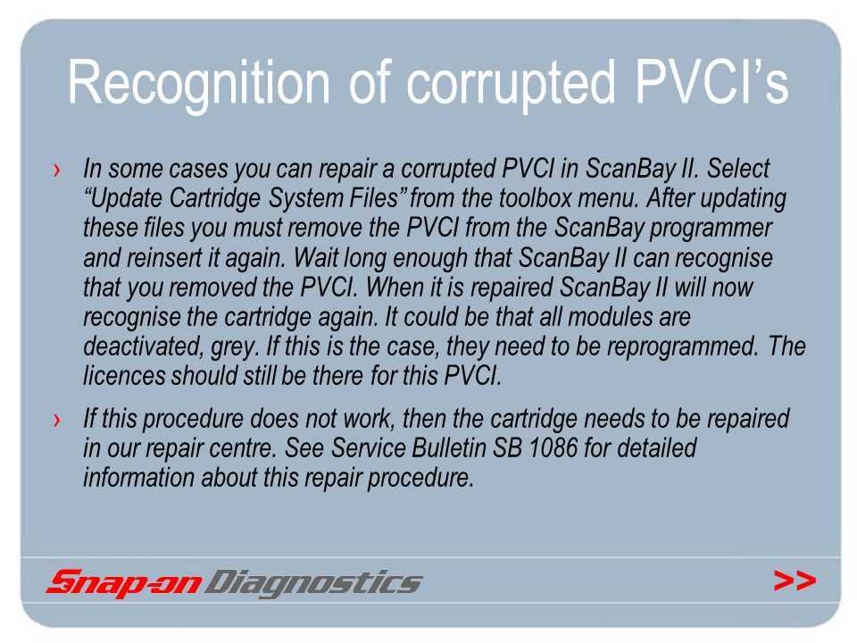 Recognition of corrupted PVCI's