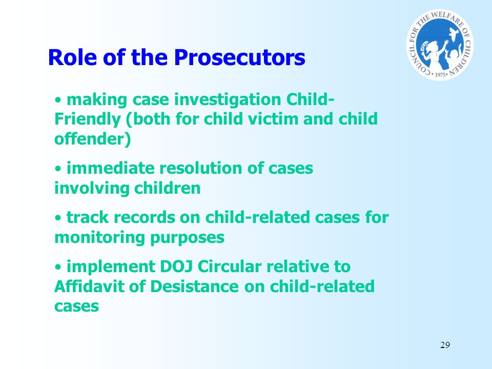 Role of the Prosecutors