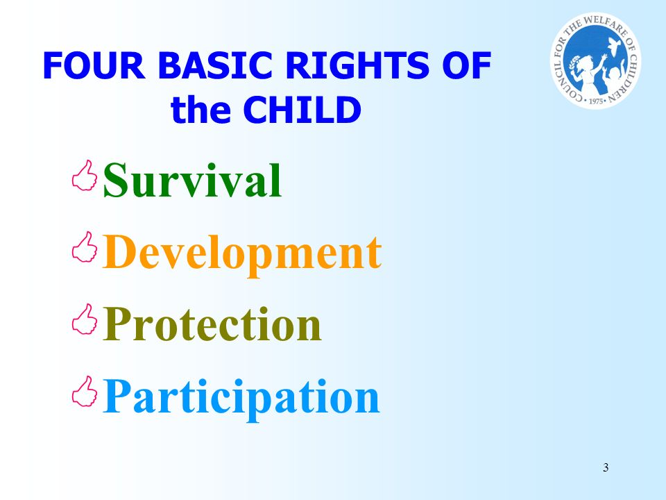 FOUR BASIC RIGHTS OF the CHILD