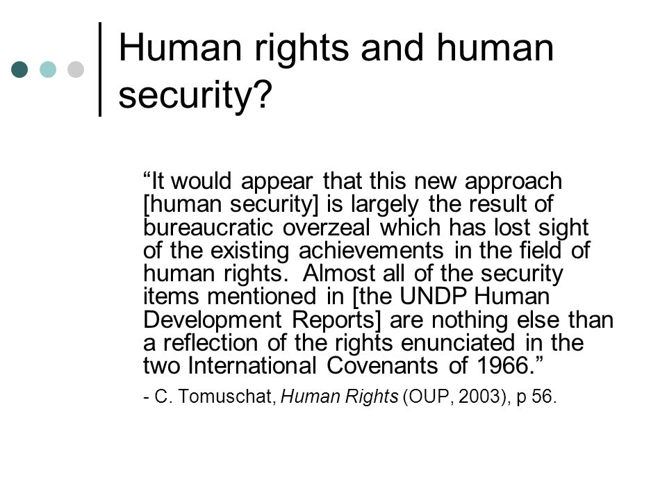 Human rights and human security