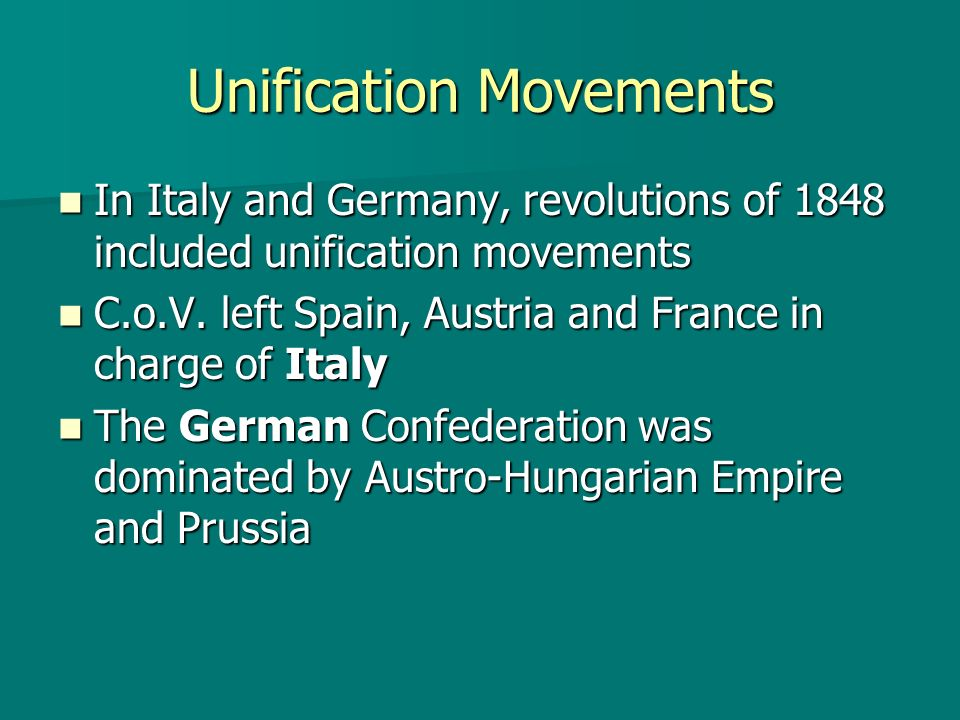Unification Movements