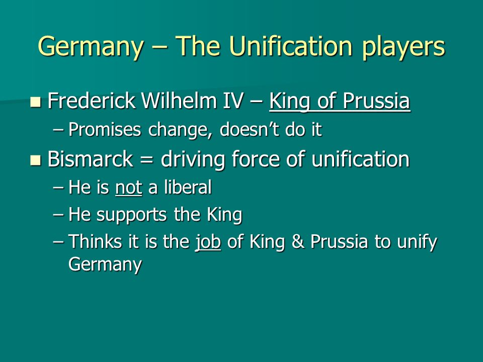 Germany – The Unification players