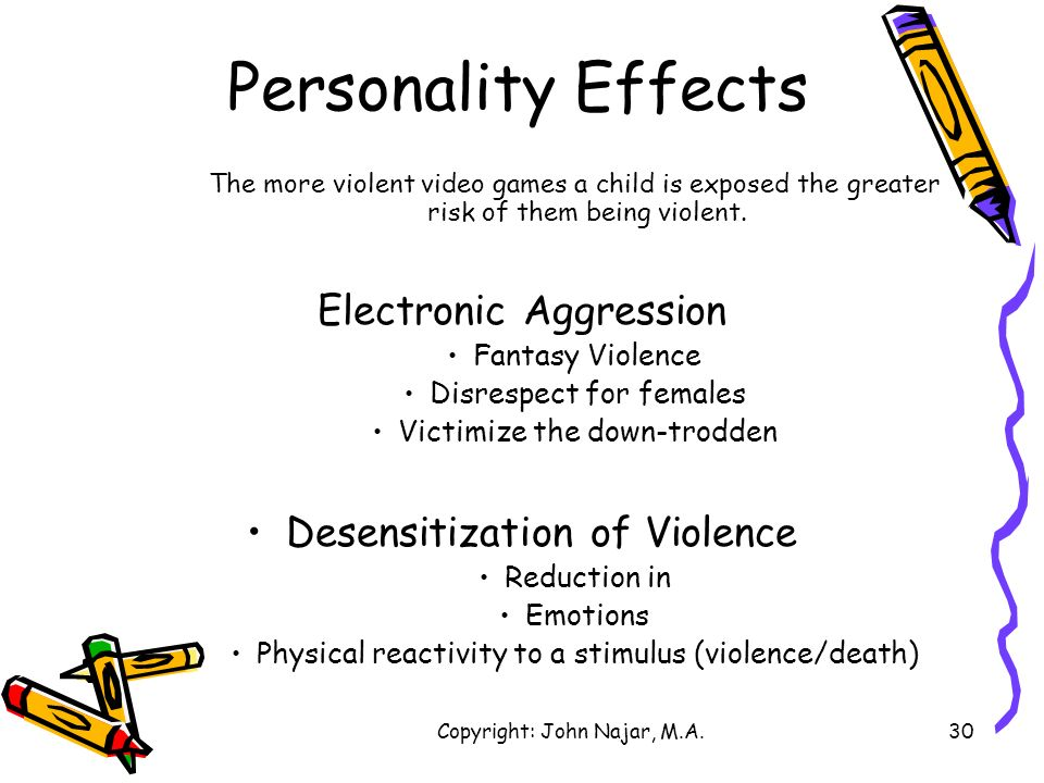 Personality Effects Electronic Aggression Desensitization of Violence