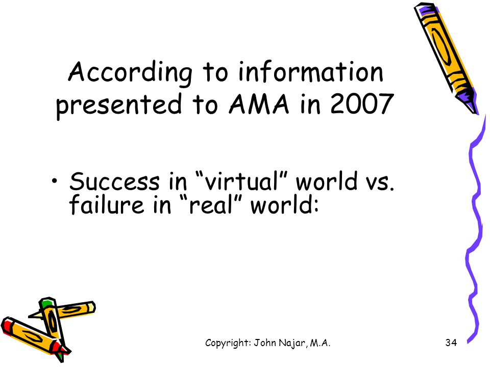 According to information presented to AMA in 2007