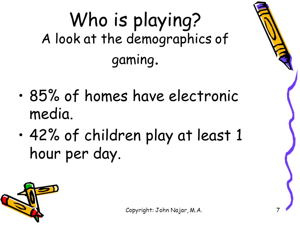 Who is playing A look at the demographics of gaming.