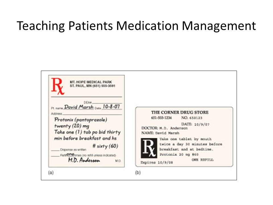 Teaching Patients Medication Management