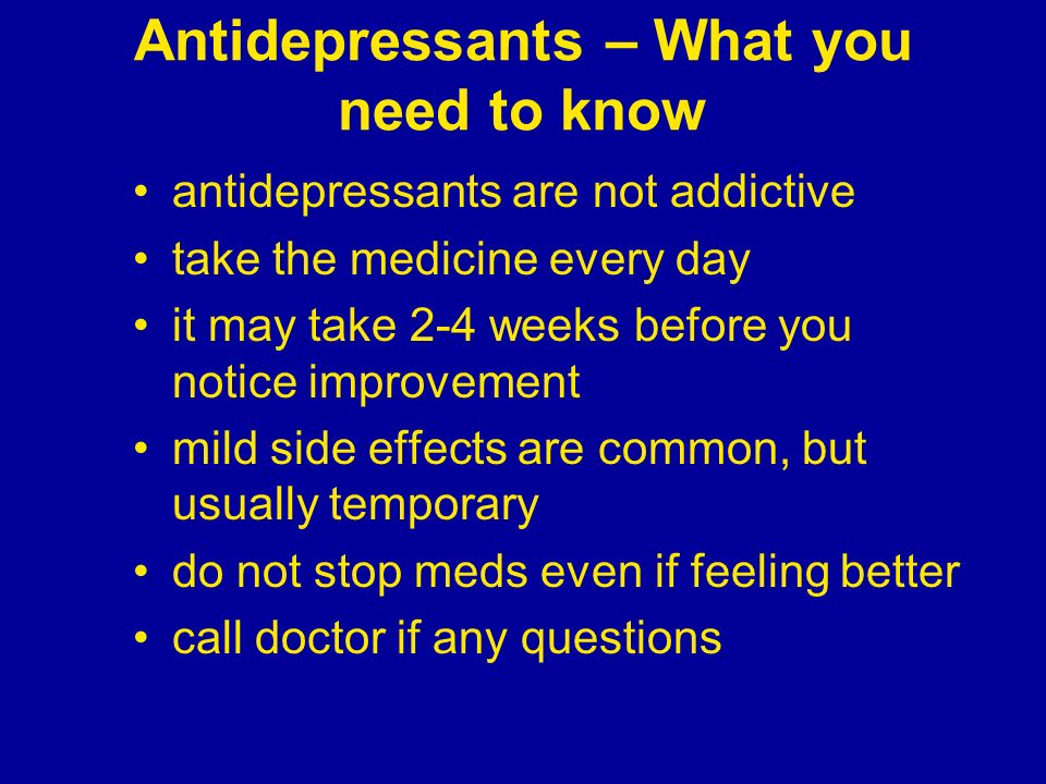 Antidepressants – What you need to know