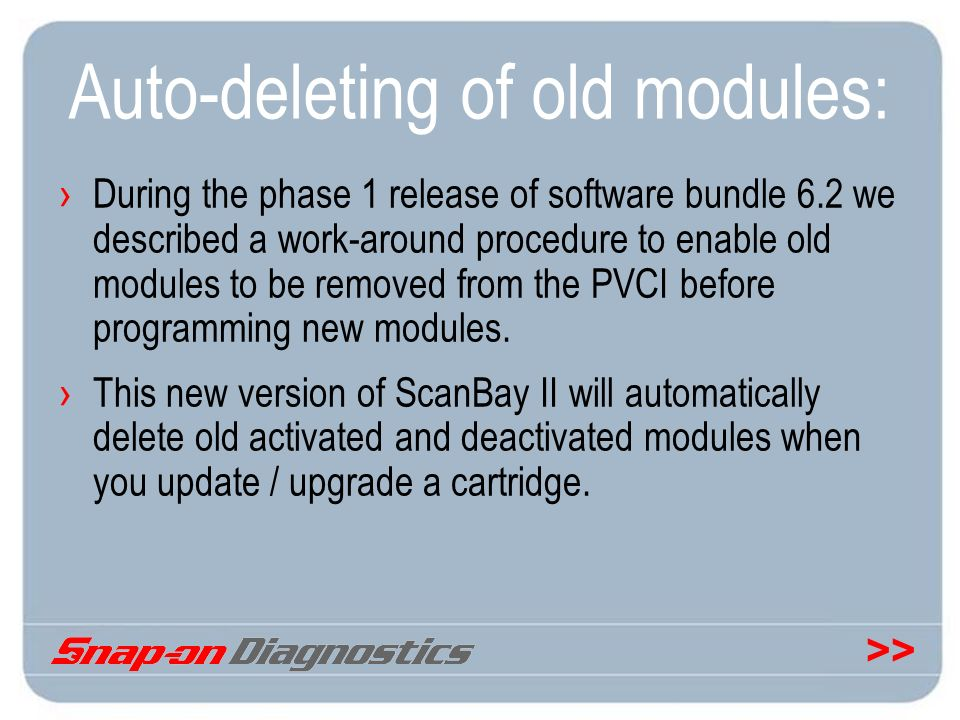 Auto-deleting of old modules: