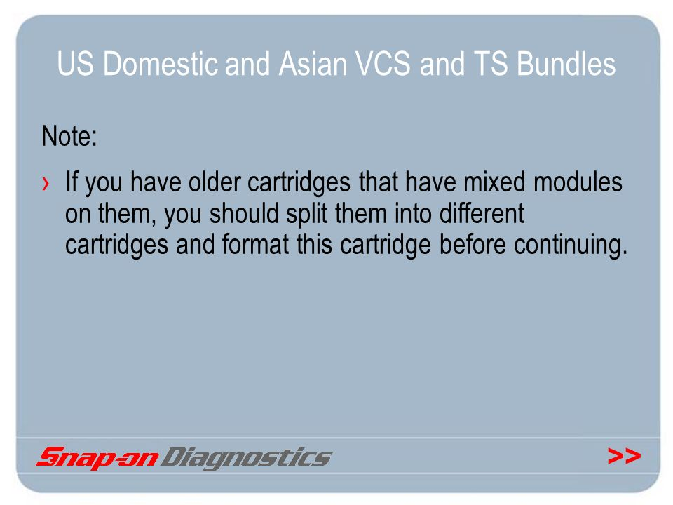 US Domestic and Asian VCS and TS Bundles