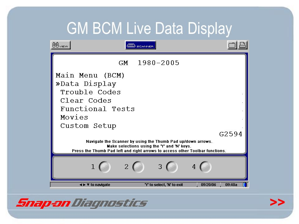 GM BCM Live Data Display