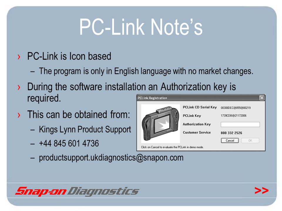 PC-Link Note's PC-Link is Icon based