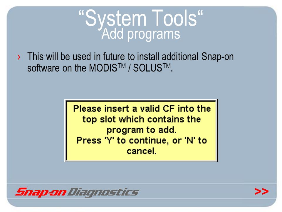 System Tools Add programs