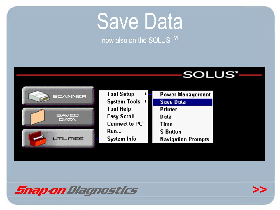 Save Data now also on the SOLUSTM