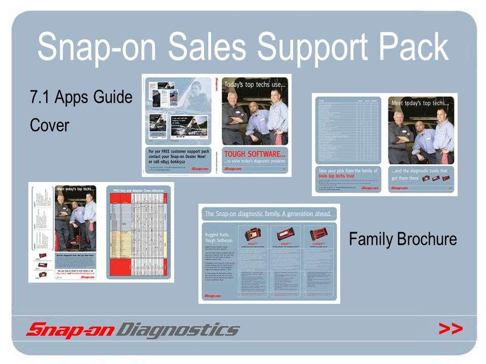 Snap-on Sales Support Pack