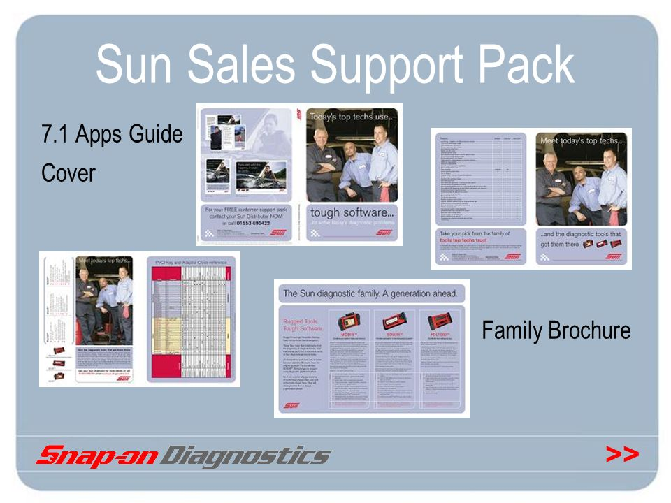Sun Sales Support Pack 7.1 Apps Guide Cover Family Brochure