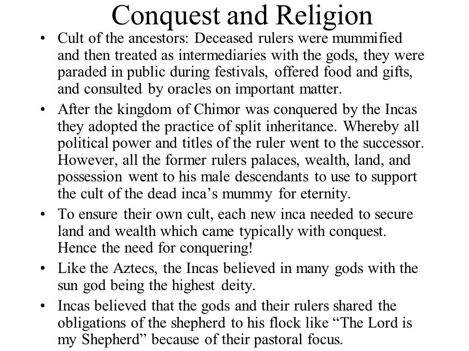 Conquest and Religion
