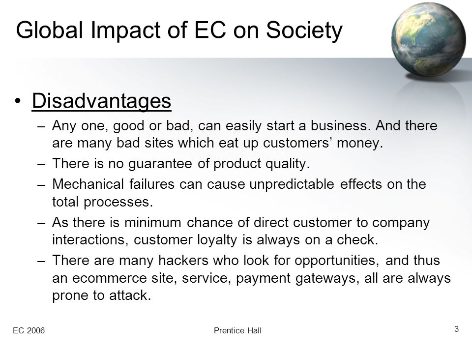 Global Impact of EC on Society