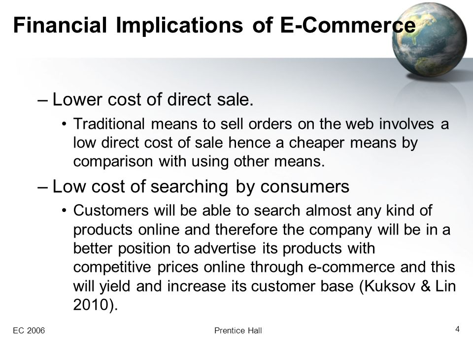 Financial Implications of E-Commerce