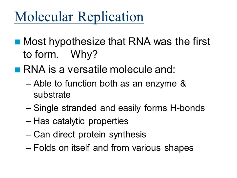Molecular Replication