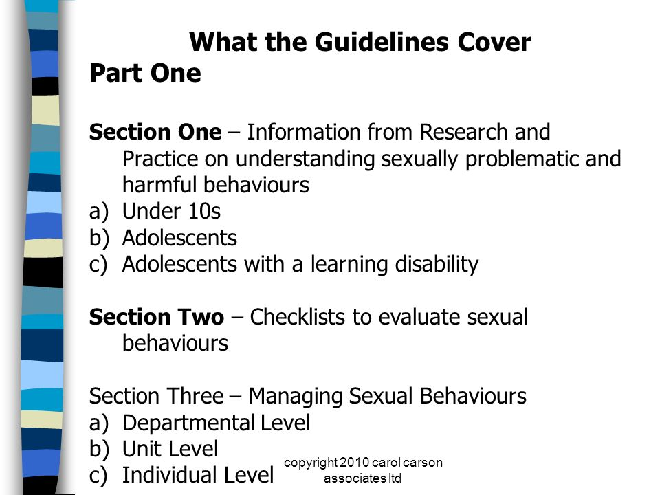 What the Guidelines Cover
