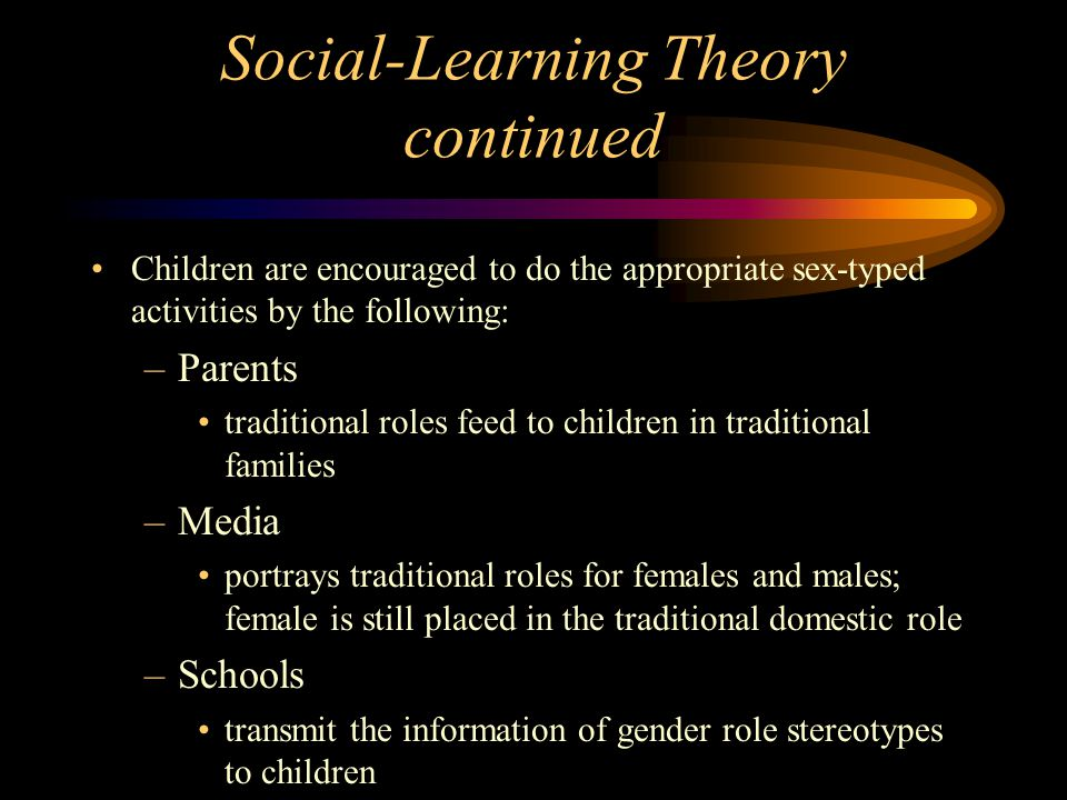 Social-Learning Theory continued