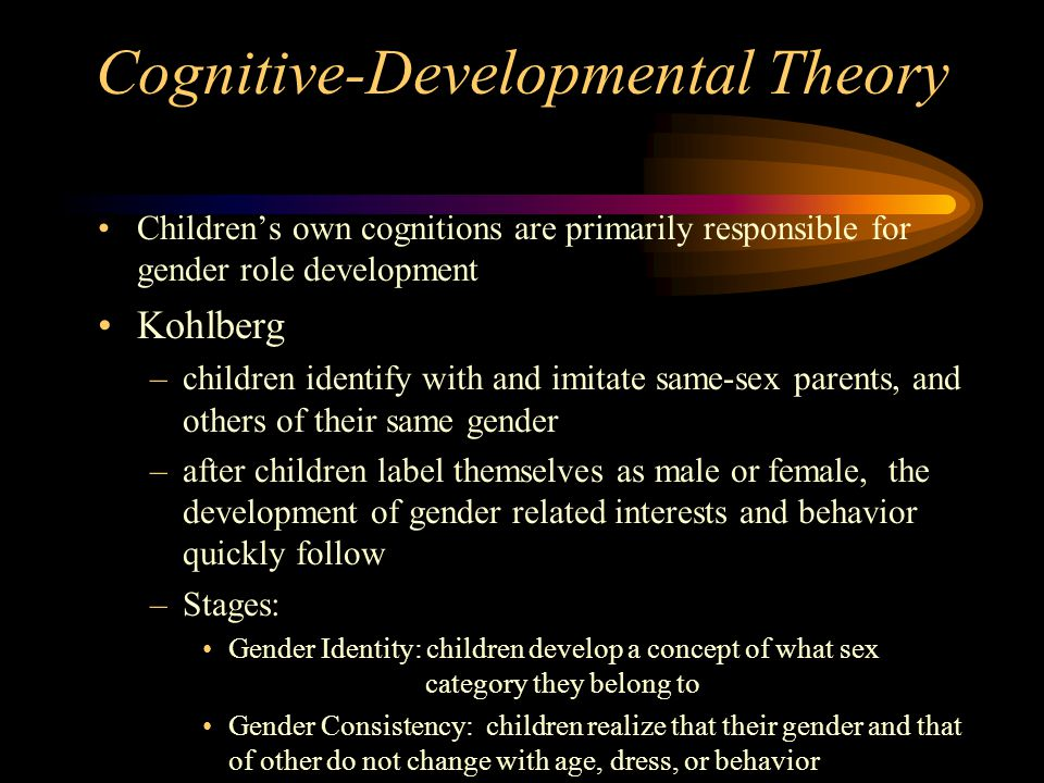 Cognitive-Developmental Theory