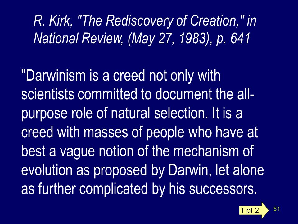 R. Kirk, The Rediscovery of Creation, in National Review, (May 27, 1983), p. 641