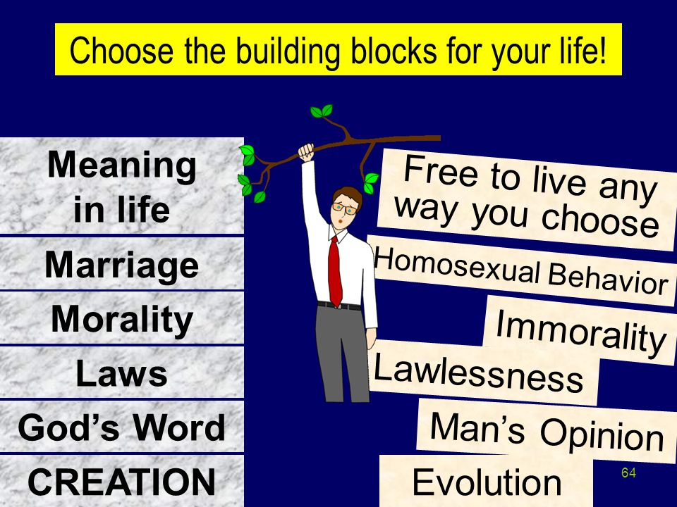 Meaning in life Marriage Morality Laws God's Word CREATION