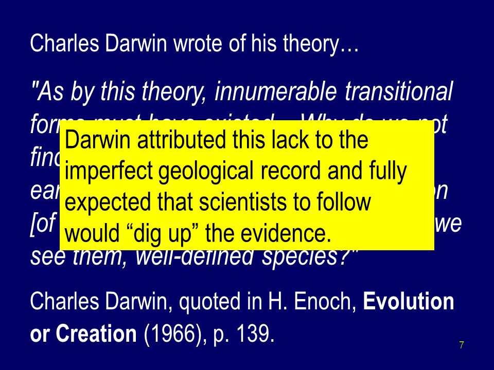Charles Darwin wrote of his theory…