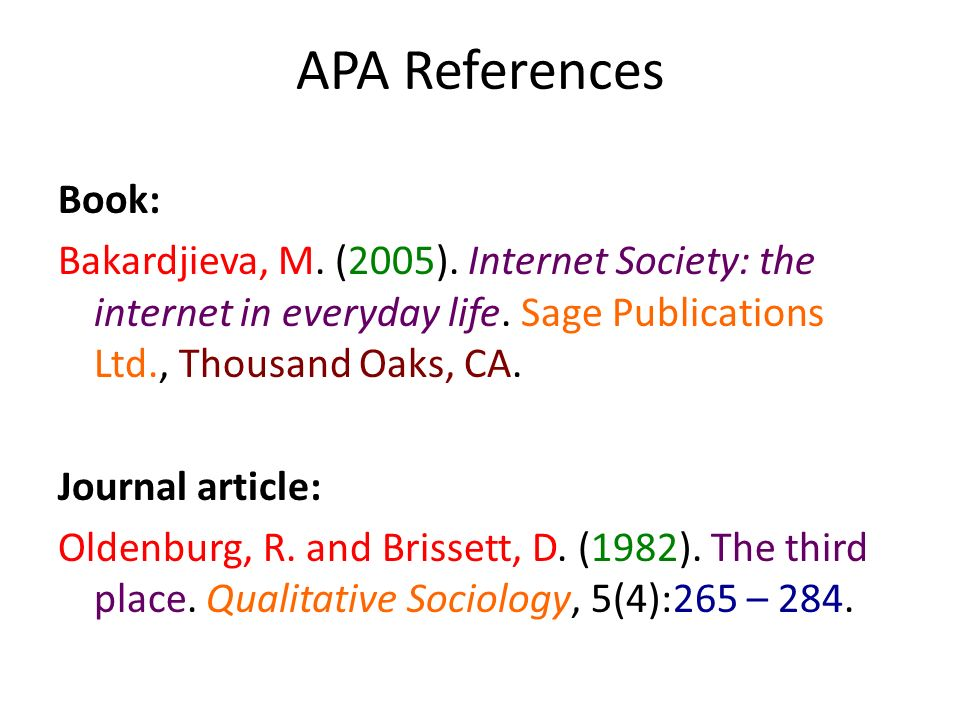 APA References