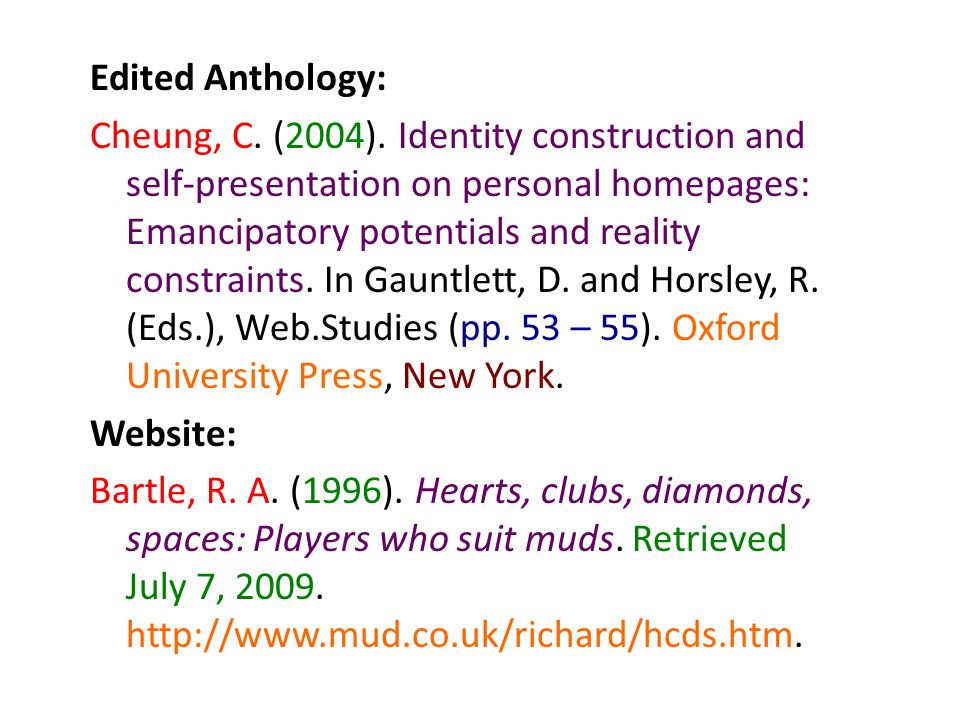 Edited Anthology: Cheung, C. (2004)