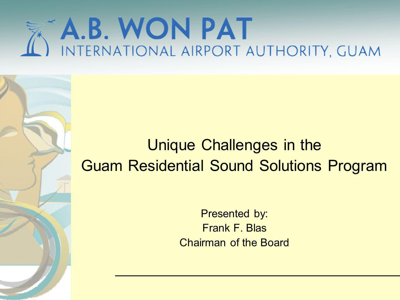 Unique Challenges in the Guam Residential Sound Solutions Program