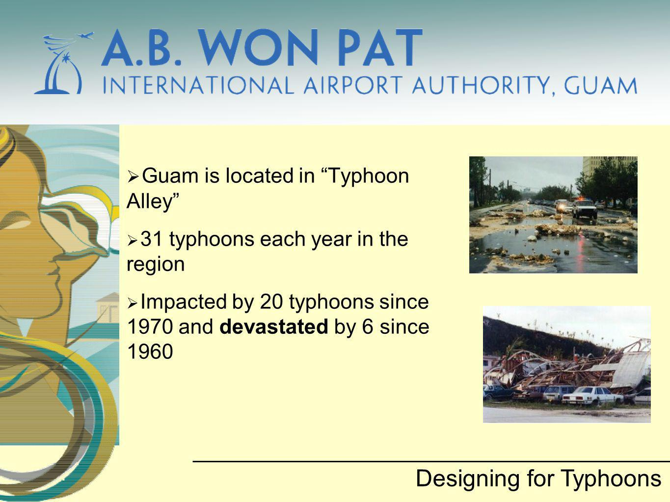 Guam is located in Typhoon Alley