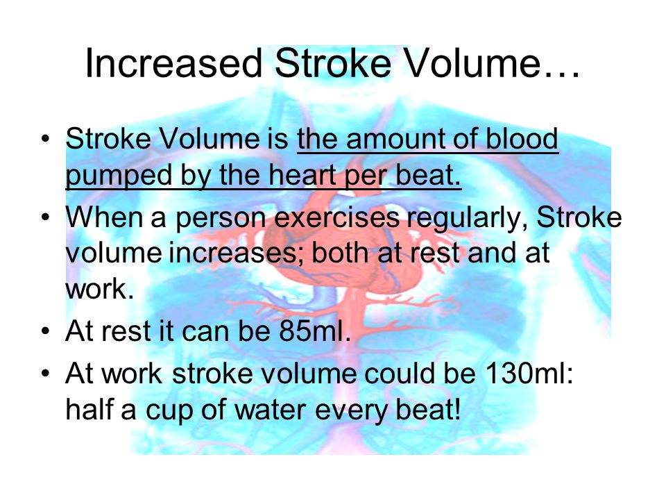 Increased Stroke Volume…