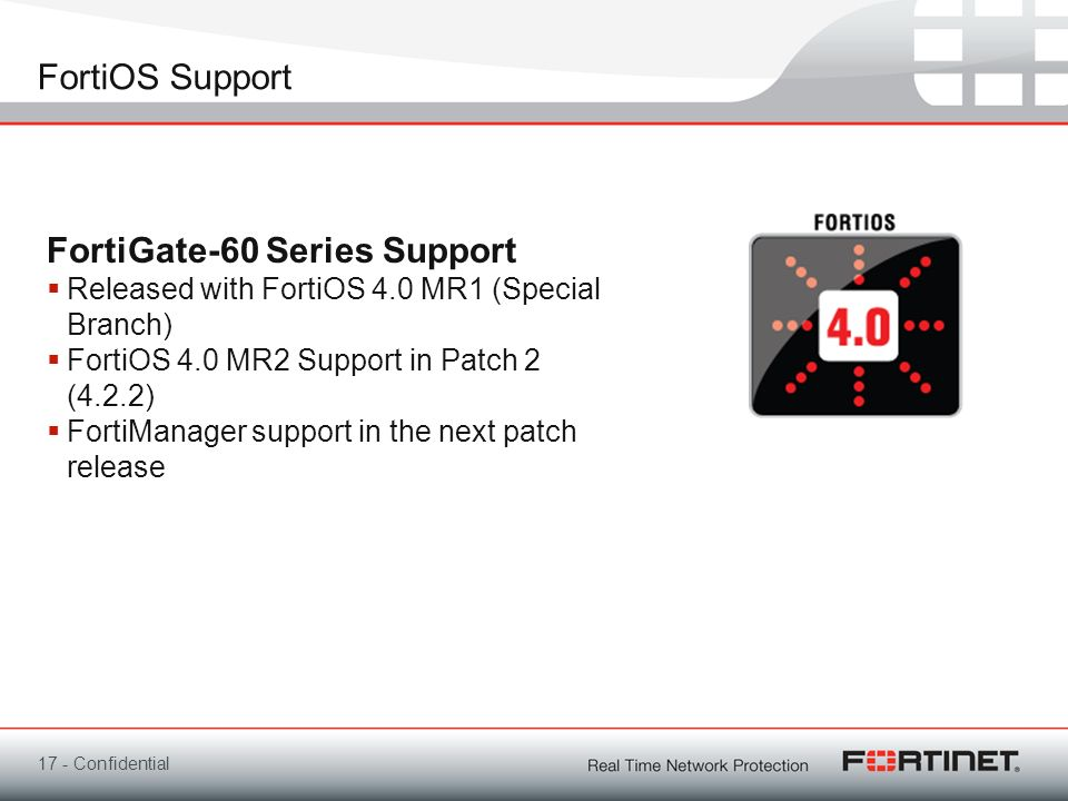 FortiGate-60 Series Support