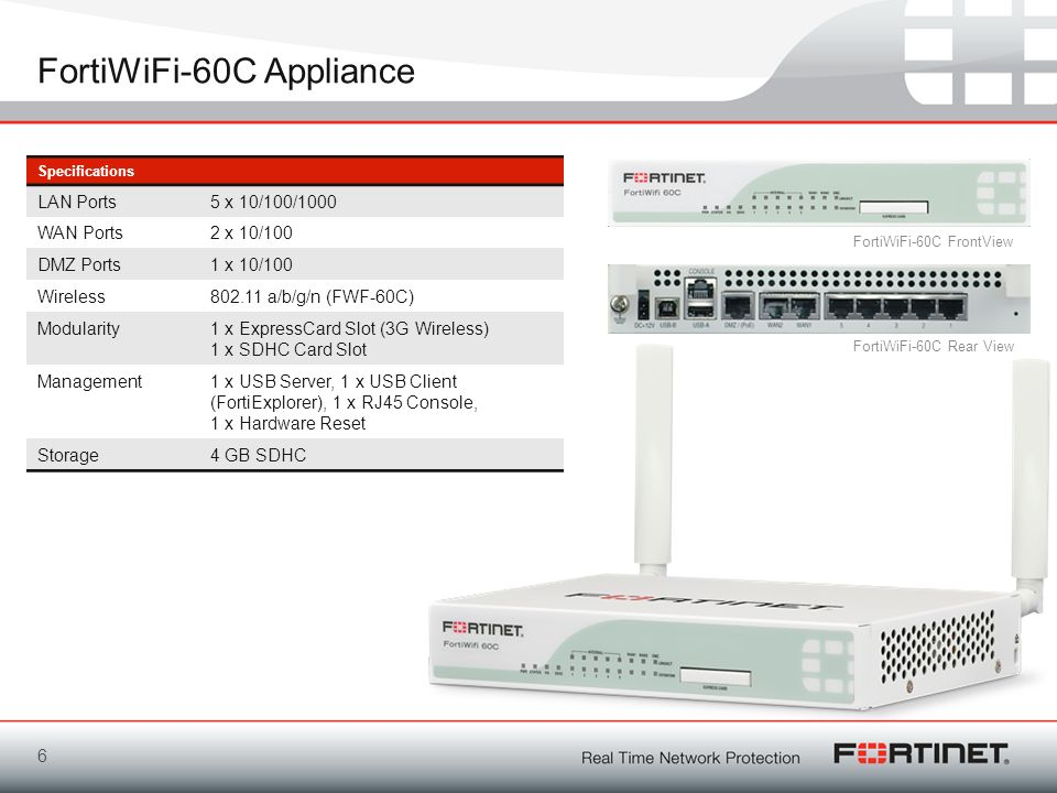 FortiWiFi-60C Appliance