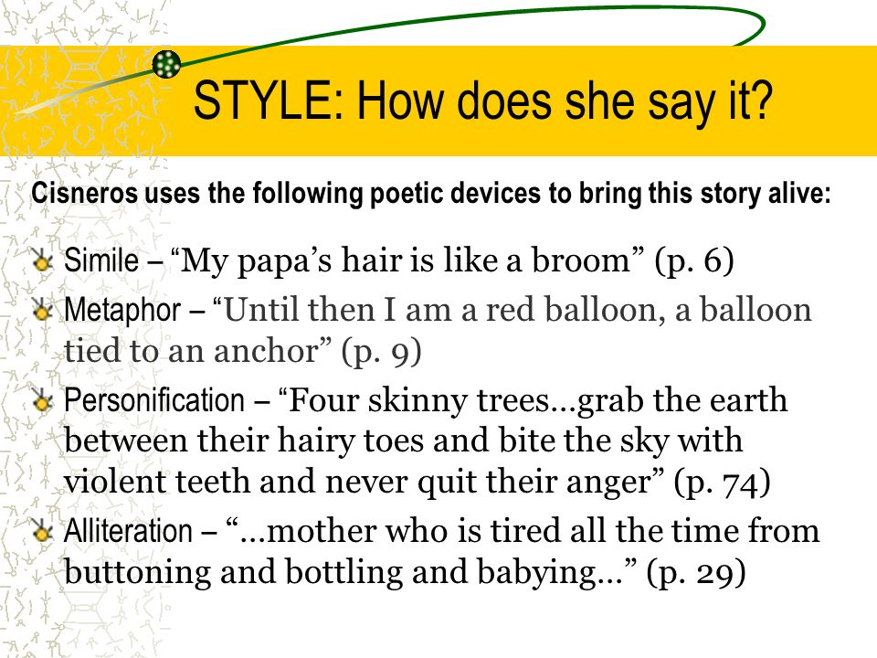 STYLE: How does she say it