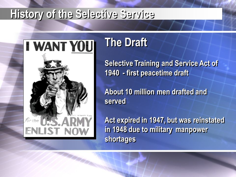 A Teacher S Guide The Selective Service System Ppt Download