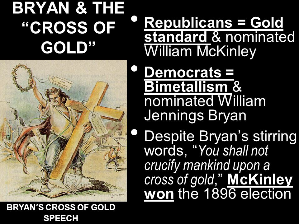 BRYAN & THE CROSS OF GOLD