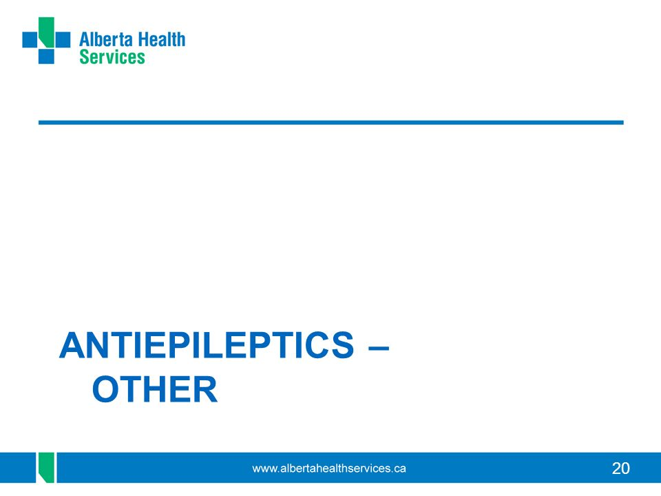 ANTIEPILEPTICS – OTHER