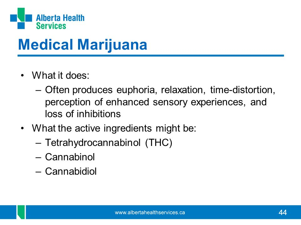 Medical Marijuana What it does: