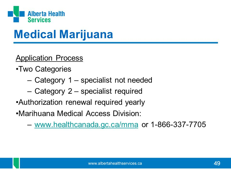 Medical Marijuana Application Process Two Categories
